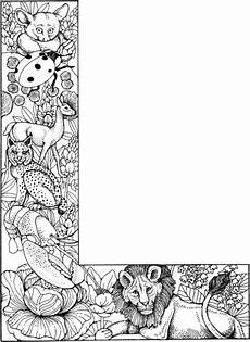 letter l with animals coloring page free printable