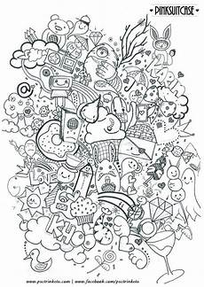 abstract doodle zentangle coloring pages colouring