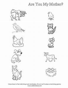 animals and their worksheets for kindergarten 14101 worksheet for baby animal matching and baby animals are you my preschool