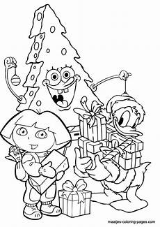 coloring page spongebob as tree and