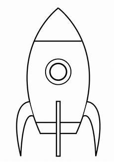 ganz einfache rakete ausmalbild kostenlose ausmalbilder