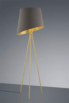 abat jour contemporain design ladaire tr 233 pied dor 233 abat jour tissu int 233 rieur dor 233 baulmann leuchten luminaire de prestige