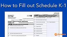 how to fill out schedule k 1 irs form 1065 youtube