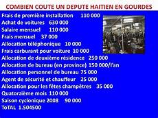 Combien Coute Un Depute Haitien En Gourdes Haitian
