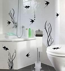 Spiegel Für Toilette - bad deko set fischewelt fische fliesen wandtattoo