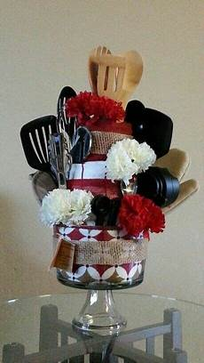 kitchen utensil gift basket in trifle bowl gift baskets diy gifts towel cakes
