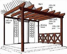 plans for pergola attached to house how to build a pergola construire une pergola plans de