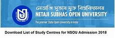 ns9uo list of study centres for nsou admission 2018