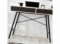 petit bureau noir bureau scandinave bureau design falun 100 cm noir