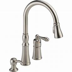 peerless kitchen faucet parts shop peerless decatur stainless 1 handle pull kitchen faucet at lowes
