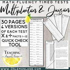 multiplication facts timed test 1 12 by teaching lemon teachers pay teachers