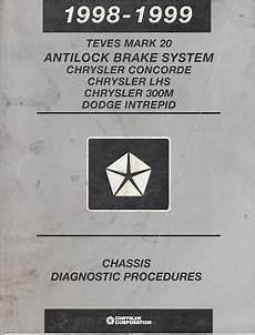service repair manual free download 1999 chrysler lhs auto manual 1998 1999 chrysler concorde lhs 300m dodge intrepid teves mark 20 antilock brake system