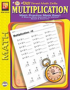 multiplication readiness worksheets 4580 easy timed math drills multiplication