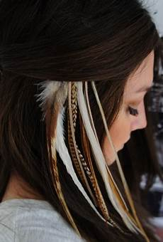 plume de cheveux luiferiga plumas en tu cabello