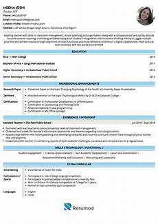 sle resumes and cvs by industry resumod