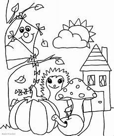 Malvorlagen Kinder Herbst Ausmalbild F 252 R Kinder Herbst Malerklecksi