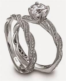 platinum diamond wedding bands sets wave shaped cz