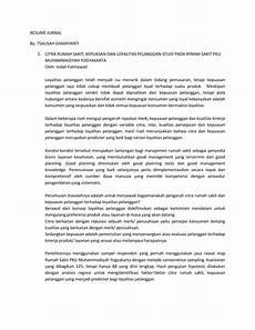 resume jurnal by tsalisah damayanti citra rumah sakit kepuasan