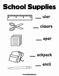 new back to school worksheet from twistynoodle com fill