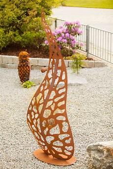 garten im quadrat garten skulptur quot blatt quot 100 cm