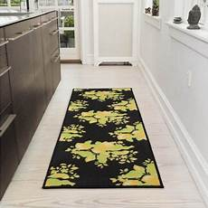 Kitchen Runner Rugs Black by Ottomanson Lemon Collection Contemporary Black Lemons