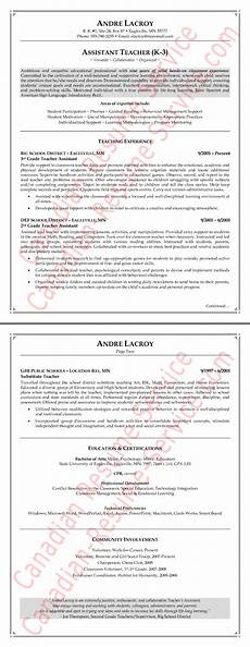 teaching assistant resume exle teacher sle