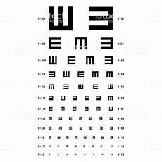 Snellen Eye Examination Chart Eye Test Chart Vector E Chart Vision Exam Optometrist