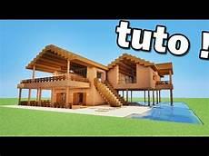 maison en bois de luxe minecraft maison en bois de luxe tutoriel