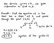 find the equation of a line using the slope intercept formula lesson learning algebra can be easy