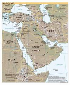middle eastern scales large scale political map of the middle east with relief major cities and capitals 1999
