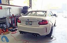 bimmerboost independent manual bmw f87 m2 weight testing shows 3596 pounds the scales with