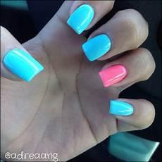 baby blue and pink nails acrylic nails nail designs blue