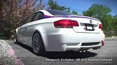 e92 m3 gt4 akrapovic evolution titanium exhaust