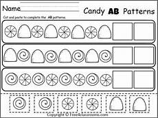 cut and paste patterns worksheets for kindergarten 309 pin on ideas
