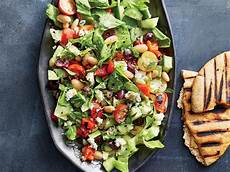 greek chopped salad with grilled pita recipe cooking light
