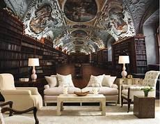 European Style Library Ceiling Wallpaper Murals Background