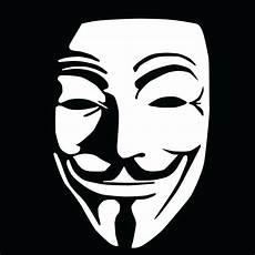 anonymous v for vendetta bumper sticker window laptop