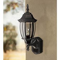 alexandria black motion sensor outdoor wall light h7004 lsplus com