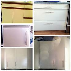 Kitchen Unit Makeover Paint by Diy Painted Cabinets Painting Laminate Melamine Kitchen