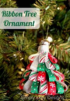 diy ribbon tree ornament