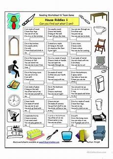 house riddles 1 easy worksheet free esl printable worksheets made by teachers upk