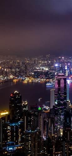 iphone wallpaper city sea wallpaper hong kong city view skyscrapers lights