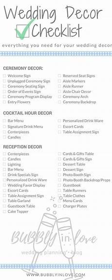 wedding ceremony and reception checklist this is so helpful wedding decoration checklist