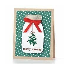 merry kissmas card by p smith christmas cards to make jar cards cards handmade