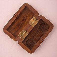 natural charm personalized pocket size wooden wedding ring box garland surrounding the knot shop