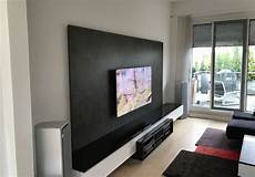 Tv Wand Mit Medien Low Board Audio Team Home Entertainment
