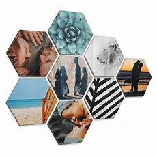 foto collage wand dejouwe hexagons moodboard in 2019 fotocollage muren huis idee 235 n decoratie en fotolijst muren