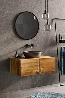 Waschtischunterschrank Für Aufsatzwaschbecken Holz - badezimmer rustikal einrichten waschtisch unterschrank