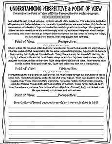 perspective worksheet point of view pdf middle school reading 4th grade