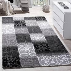 wohnzimmer teppiche teppich wohnzimmer kariert abstrakt grau teppichcenter24